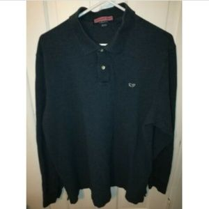 Vineyard Vines L/S Classic Pique Polo Whale Shirt